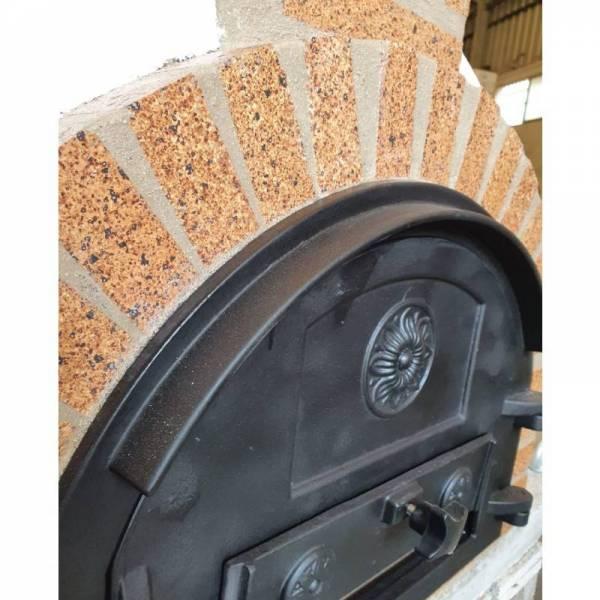 puerta para hornos de leña