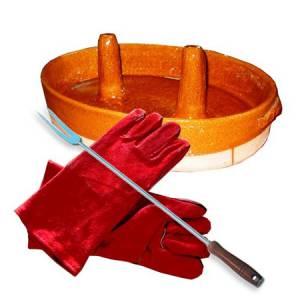 двойные перчатки для цыплят-бройлеров и дровяной печи