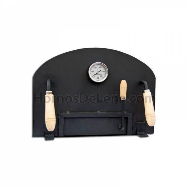 puerta para horno de leña quita y pon con pirometro